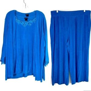 Citiknits Teal Stretchy 3 Pc Outfit Sz 2X